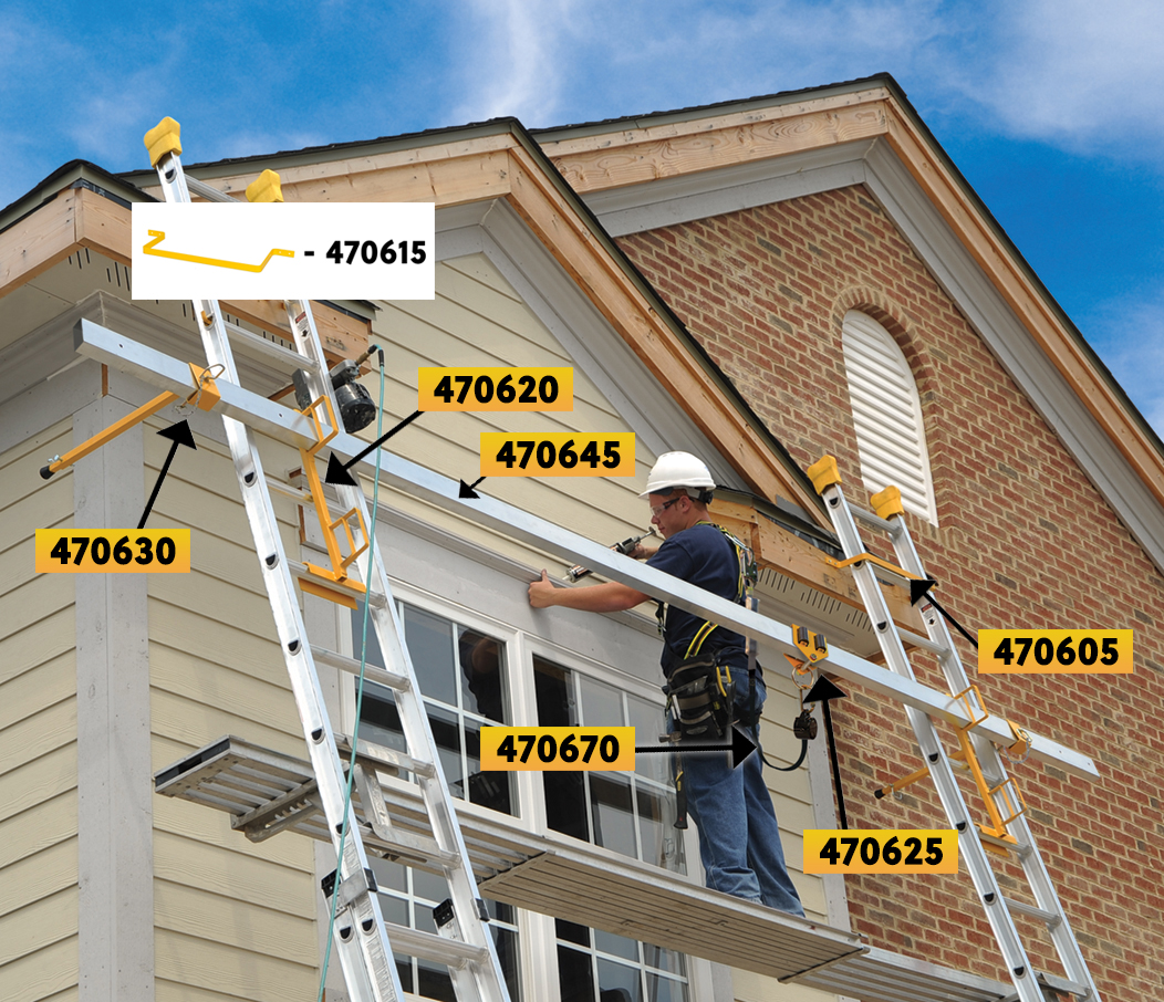 fall protection-ladder jack numbered